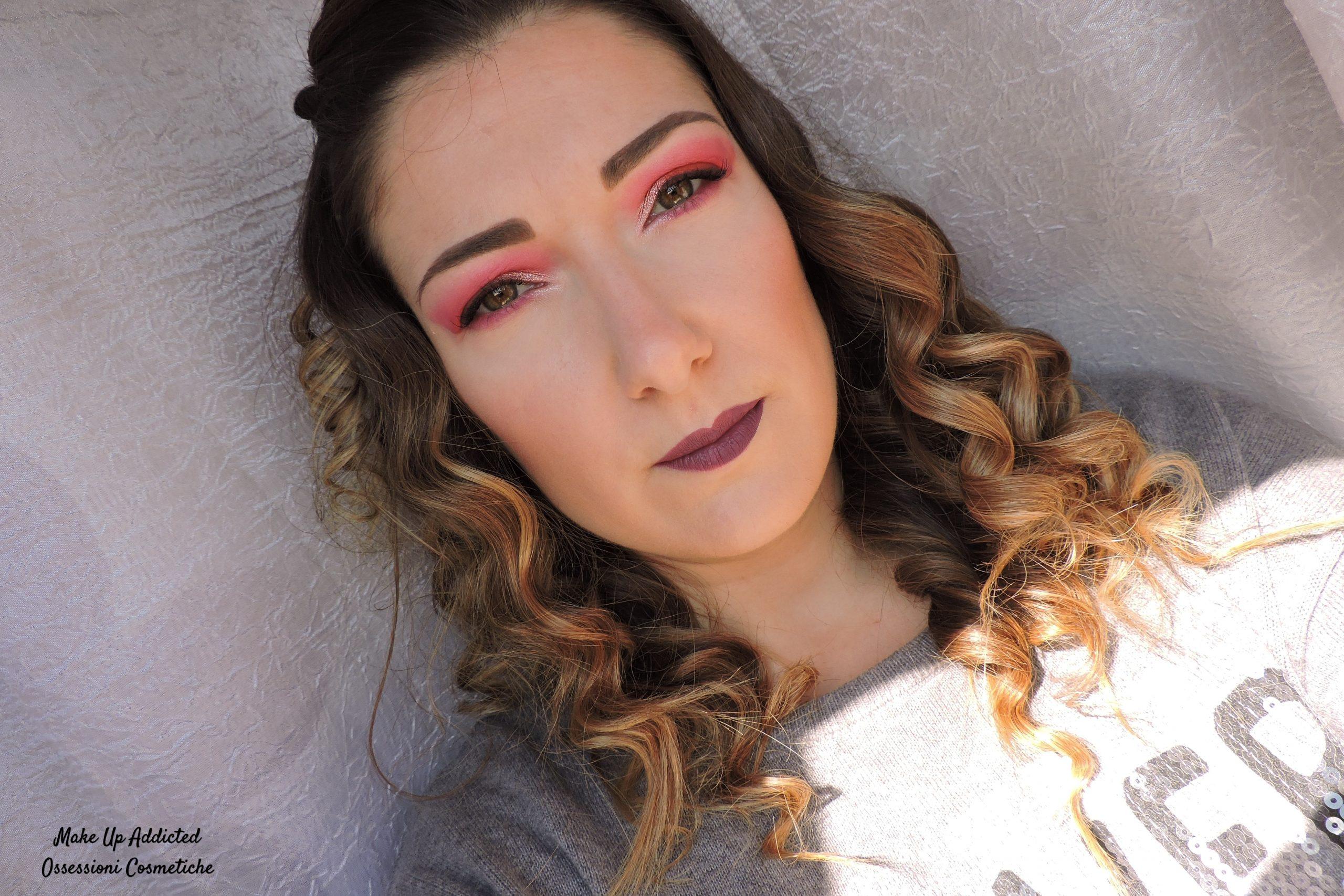 Make up arancione e fucsia